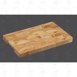 Snijblok kopshout 40 x 25 x 3 cm - Rubberhout