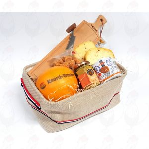 Burlap Dutch Edam cheese bag