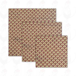 3-pack | Bivax Wrap Kiwi - ostduk - Dooek Kiwi | 20x20 * 25x25 * 30x30 cm