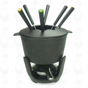 Cast iron fondue set - 1 litre