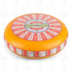 Halvlagrad Goudaost | Premiumkvalitet | Hela ost 12 kilo