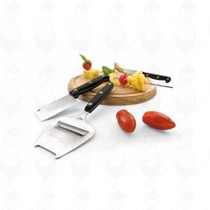 Cheese Board with slicer and two knifes