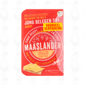 Sliced Maaslander Cheese Semi-Matured 50+ | 300 grams in slices