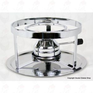Fondue base with gas burner