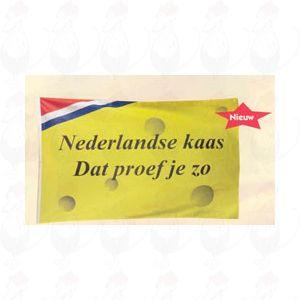 Vlag Nederlandse kaas, dat proef je zo... 100x150 cm