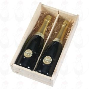 Bellussi Prosecco di Valdobbiadene Spumante D.O.C.G. 2-compartment box with plexi glass cover