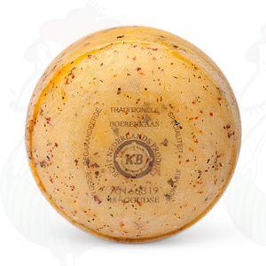 Gouda Italian Herbs Pounds Farmers Cheese   400 grammes / 0.88 lbs