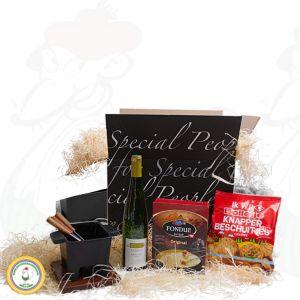 Varierad tapasfondue presentpaket – svart