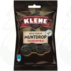 Klene Mild Zoete Muntdrop Suikervrij   100 gram