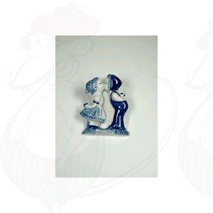 Delft Blauwe magneet Boer en Boerinnetje - kussend paar