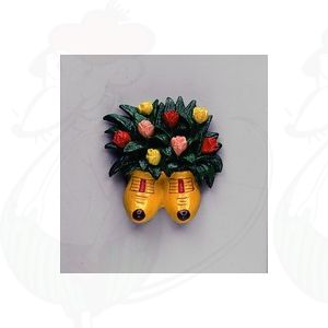 Magnetic bunch of tulips in yellow clogs