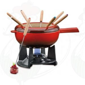 Fondue set Saas-Fee | Red
