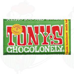 Tony's Chocolonely Melk - hazelnoot - 180gr.